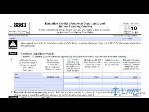 Learn How to Fill the Form 8863 Education Credits