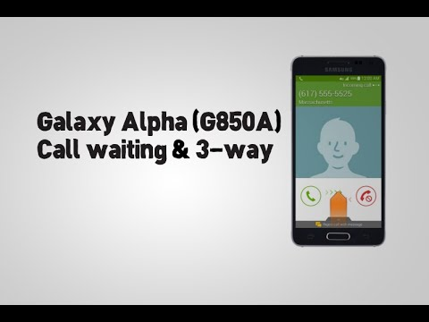 Samsung Galaxy Alpha (G850A) Call waiting & 3-way