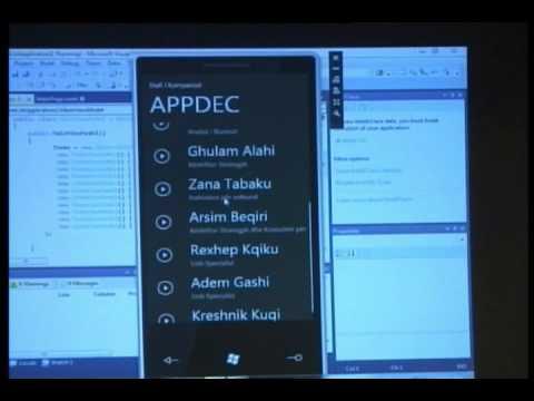 Developing Windows 7 Phone Application - Betim Drenica, Tech Update 2010