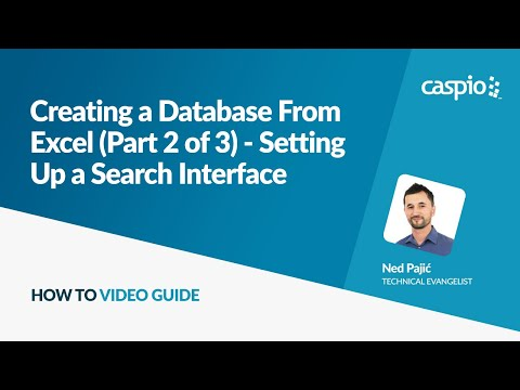 Creating a Database From Excel (Part 2 of 3) - Setting Up a Search Interface