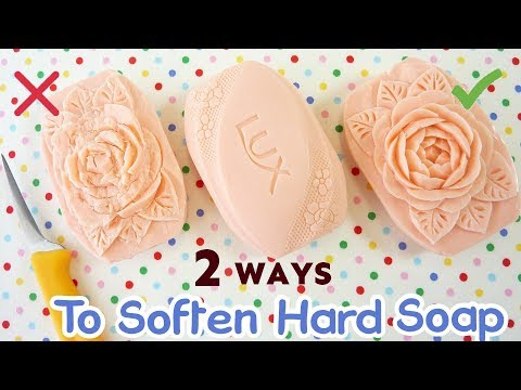 SOAP CARVING | How To Soften Hard Soap | Cómo ablandar jabón | EASY | ASMR | Satisfying |