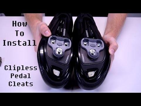 How To Install Clipless Cleats on Cycling Shoes