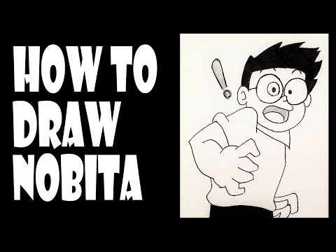 How To Draw Cartoons - Drawing Nobita Nobi From Doraemon (Easy Step by step)