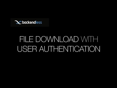 File Download with User Authentication