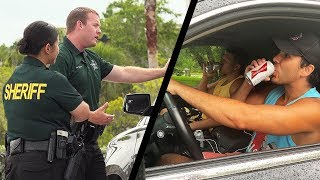 Drinking Fake Beer While Driving By Cops!