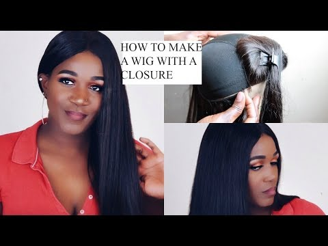 DETAILED HOW TO MAKE A WIG WITH A CLOSURE BEGINNER FRIENDLY | TRENDY BEAUTY
