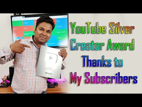 YouTube Creator Award 2018 New Silver Play Button Unboxing Hindi