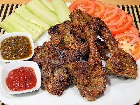 Fried Mutton Chops Eid ul Adha special recipe - فرائیڈ مٹن چانپ