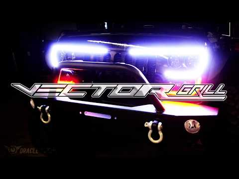 Oracle Vector Series Full LED Grill Jeep