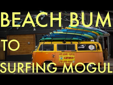 How a van helped turn a beach bum into a surfing mogul