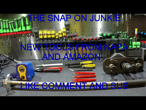 THE SNAP ON JUNKIE NEW TOOLS AND SHOP UPDATE LOT OF NEW STUFF!!!
