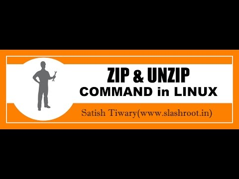 zip and unzip command in linux