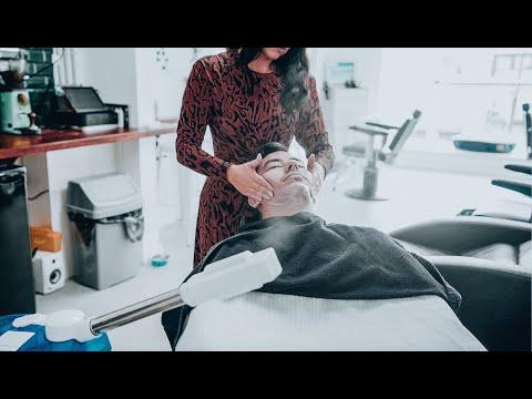 Xxx Mp4 Female Barber Facial Amp Head Massage ASMR No Talking Nomad Barber 3gp Sex