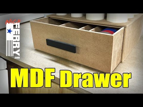 Ⓕ MDF Drawer - Shop Time With Nick