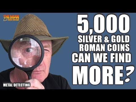 5,000 silver Denarii, Gold coins & statues?