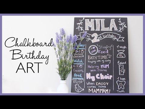 My DIY Chalkboard birthday art