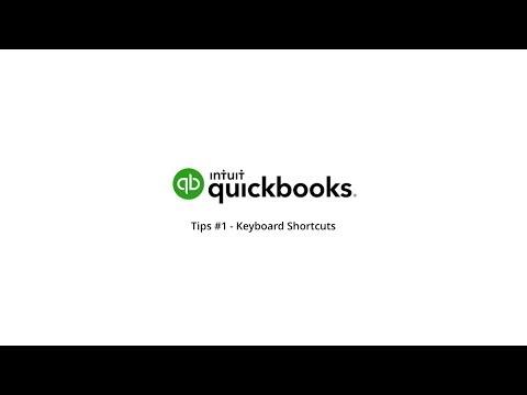 QuickBooks Online Tips #1 - Keyboard shortcuts