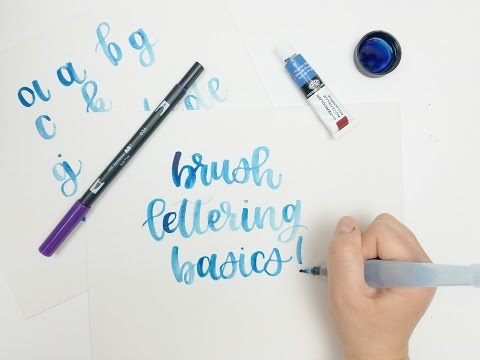 Brush Lettering For Beginners - Watercolor Tutorial (Modern Calligraphy Style)