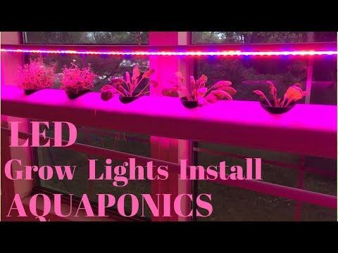 LED Strip Light Install - Grow Light for NFT Aquaponics