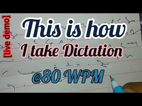 This is how I take dictation @80 WPM - Live Demo must watch   Shorthand Learning