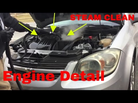 Detail an Auto Engine Compartment With McCulloch 1275 Steamer