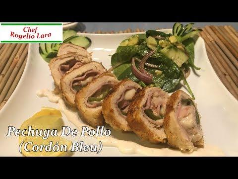 Pechuga De Pollo Rellena [Cordon Bleu] Receta Deliciosa!