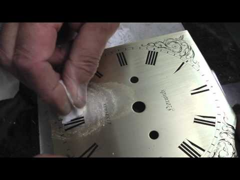 RE-SILVERING A BRASS CLOCK DIAL