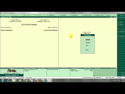 how to make payroll entry in tally