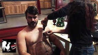 Shaving Josh
