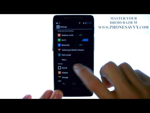 Motorola Droid Razr M - How Do I Disable Screen Lock Sound