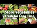 How to Store Vegetables in Fridge | How to Keep Vegetables fresh | Kitchen tips | kitchen hacks