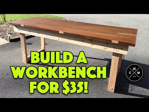 How To Build A Workbench with a Solid Core Door for $35 | Crafted Workshop