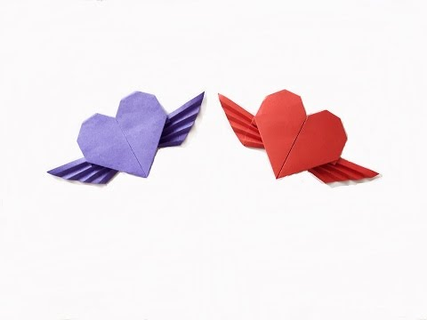 How to make a Paper Heart with wings? (for beginner)