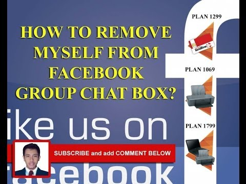 REMOVE MYSELF FROM FACEBOOK GROUP CHAT BOX ( full video tutorila )
