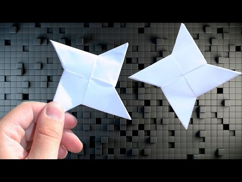 How To Make a Paper Ninja Star (Shuriken) -  EASY Origami Tutorial