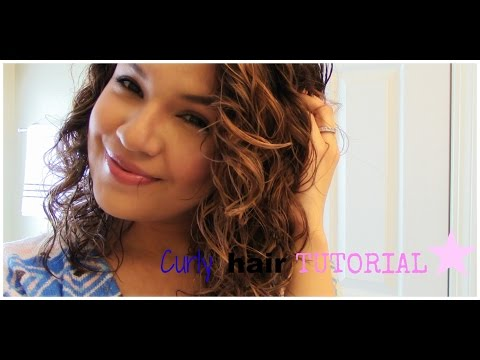 How to Curl you hair with wet hair (natural wavy hair)