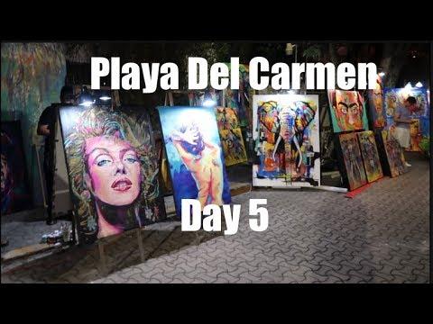 Exploring Mega Supermarket In Playa Del Carmen Mexico and 5th Ave Art Walk