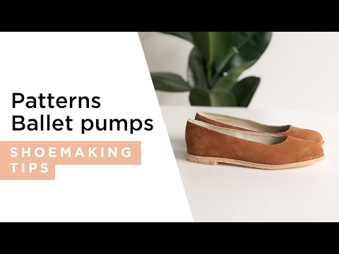How to make an easy shoe pattern - Ballet Pumps.