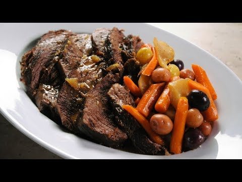How to Make  Slow Cooker Pot Roast Recipe!  🇺🇸