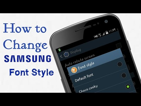 How to Change SAMSUNG Font Style