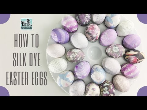 How to Silk Dye Easter Eggs with Thrift Store Ties
