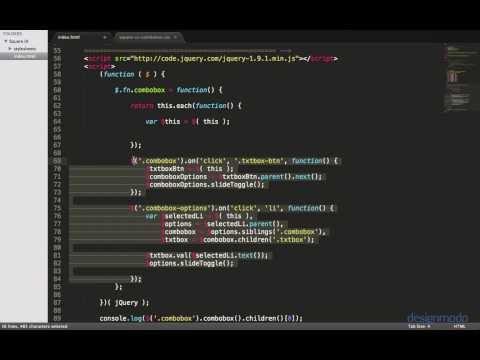 Create a Flat jQuery UI Combo Box Widget