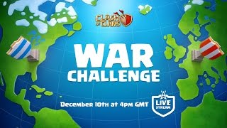 Clash of Clans War Challenge - LIVE soon!