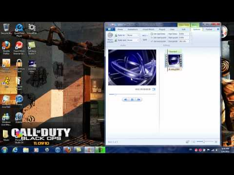 How to make a video intro using windows live movie maker. Also how to convert it .wmv for youtube HD