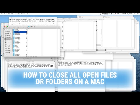 How to close all open files or folders on a MAC
