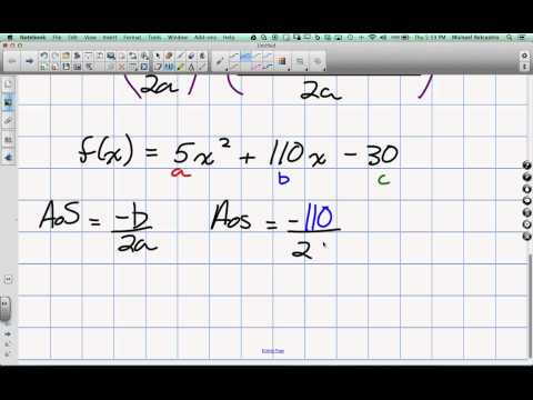 Standard to Vertex Form WITHOUT Completing the Square Grade 11 mixed Lesson 4 3 3 20 14
