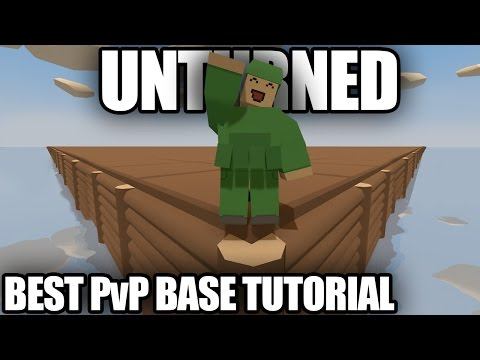 Unturned: How To Make THE BEST PvP BASE EVER (Underwater Maze Entrance)
