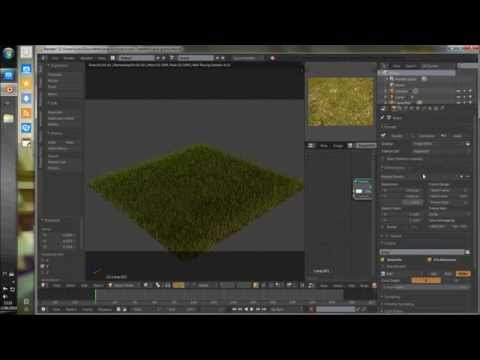 Making a simple grass in 10 minutes - Blender 2.70 / cycles