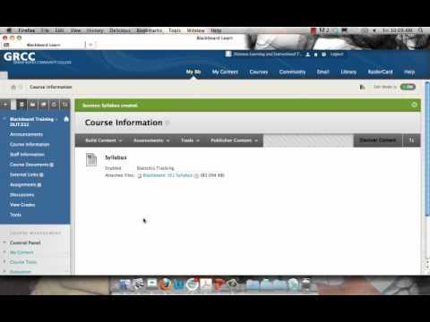 Blackboard: Creating Items and Folders