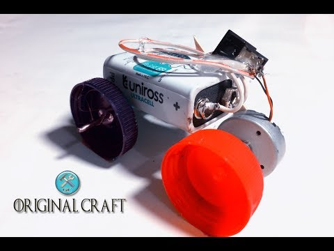 How To Make a cars using DC Motor and Bottle Lids